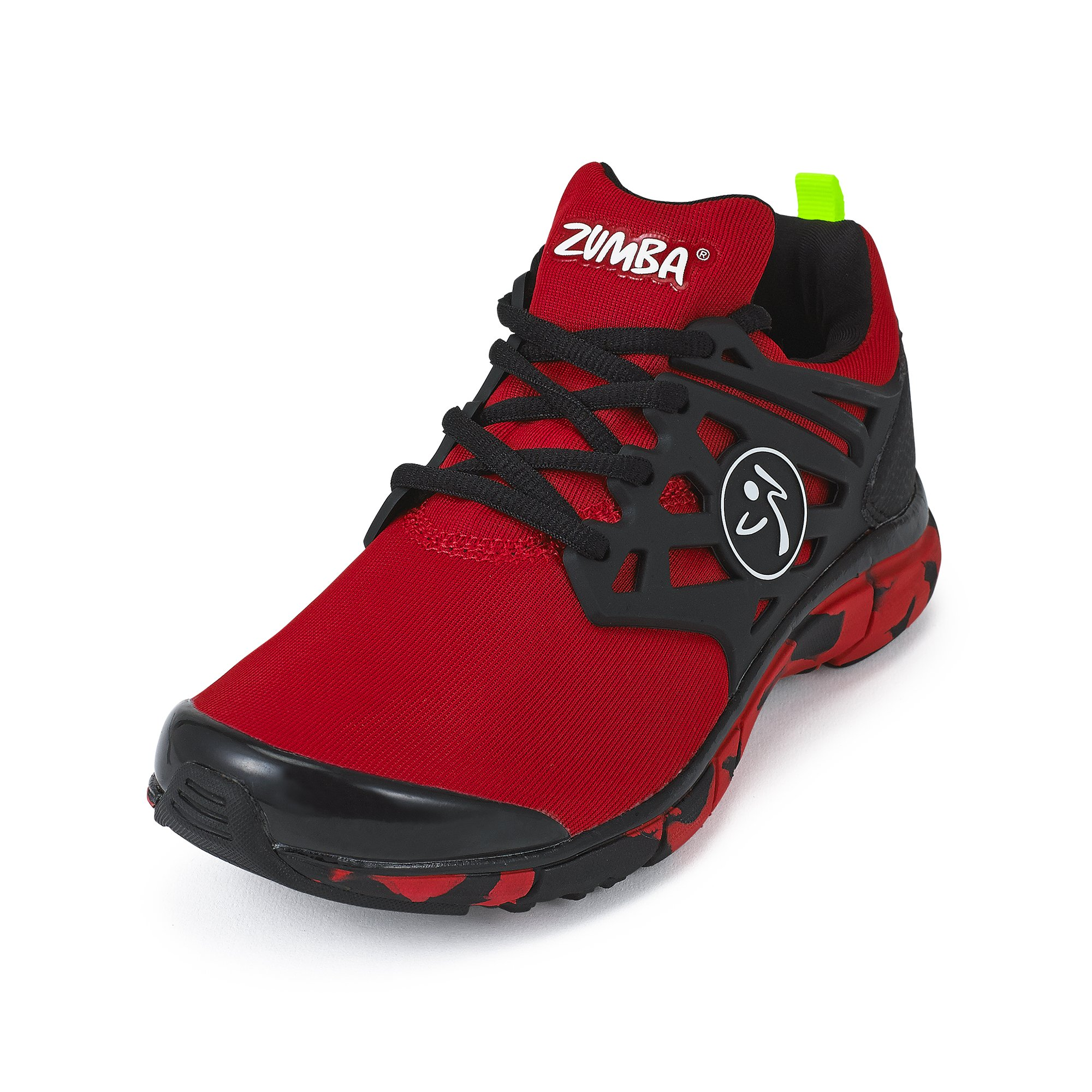 Zumba Women's Athletic Dance Workout Sneakers Fashion, Red, 9