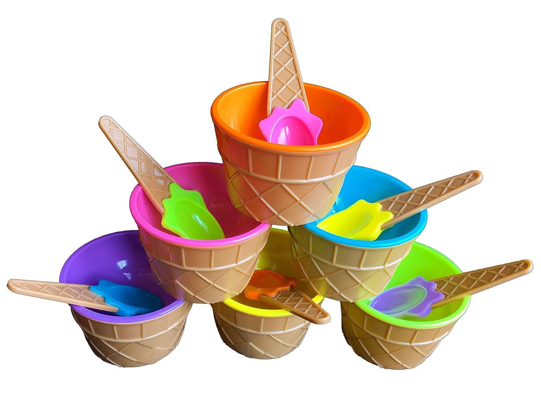 【楽天最安値に挑戦】 (6) Colours - BonBon Vibrant Colours Ice Cream Dessert B07575SNWW Bowls Dessert and Spoons (6) 6 B07575SNWW, オンセングン:3600c16a --- a0267596.xsph.ru