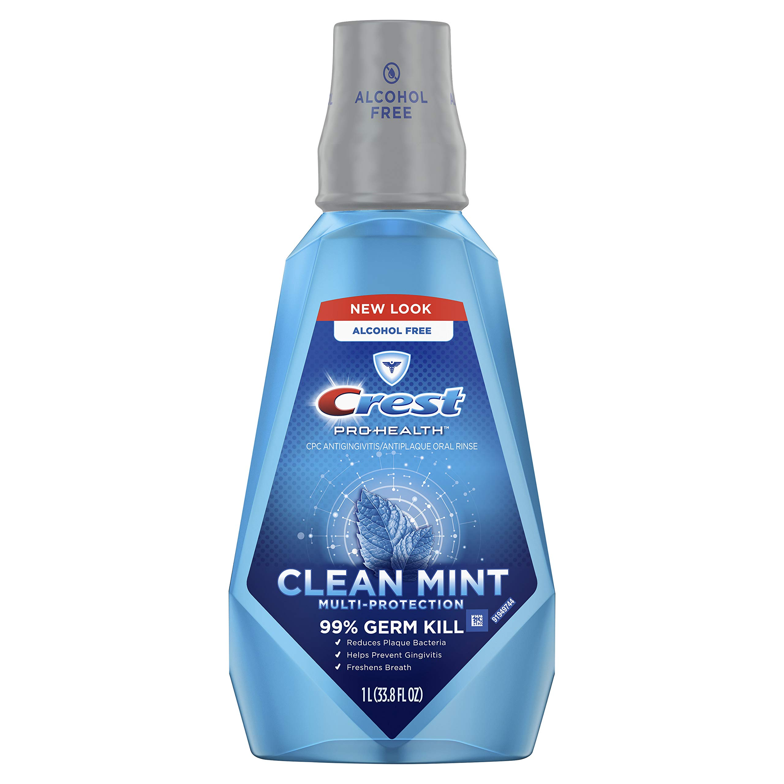 Crest ProHealth Multi-Protection Refreshing Mouthwash Clean Mint 33.8 fl oz
