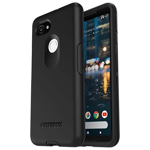 purchase cheap 2e615 3dfb3 OtterBox Symmetry Series Case for Google Pixel 2 XL - Retail Packaging -  Black
