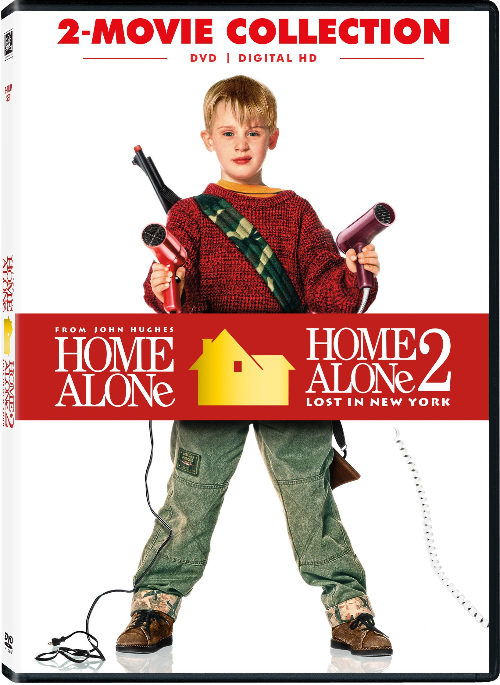 DVD : Home Alone / Home Alone 2: Lost in New York (Dolby, , Dubbed, Widescreen, Digitally Mastered in HD)