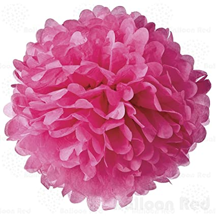 Amazon Balloon Red 4 Inch Tissue Paper Flower Pom Poms Pack Of