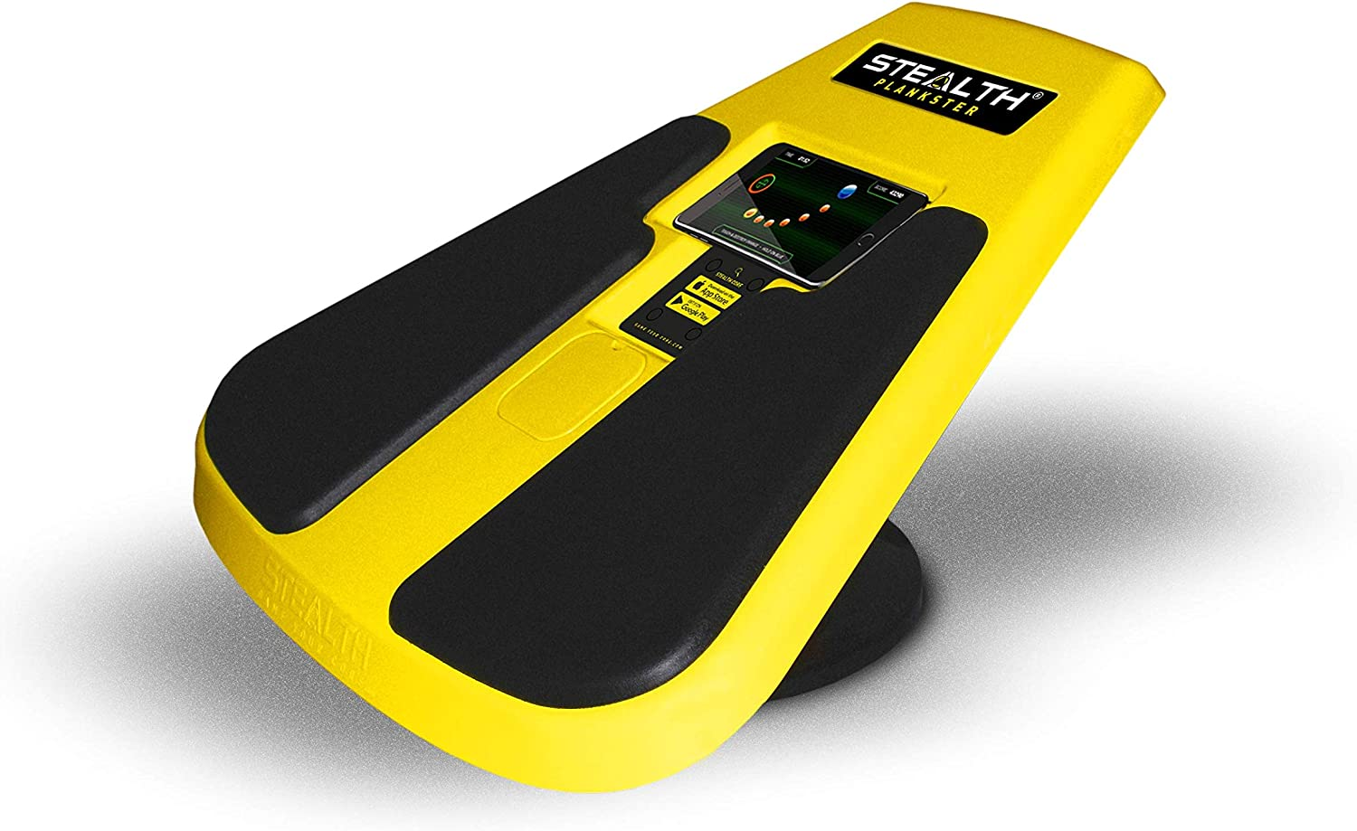 STEALTH Plankster Core Trainer – Dynamic Ab Plank Workout, Interactive Fitness Board Powered by Gameplay Technology for a Healthy Back and Strong Core Fly Yellow
