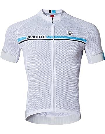 3a11130b9b8 Santic Maillot Ciclismo Hombre Maillot Bicicleta Hombre Camiseta Ciclismo  con Mangas Cortas