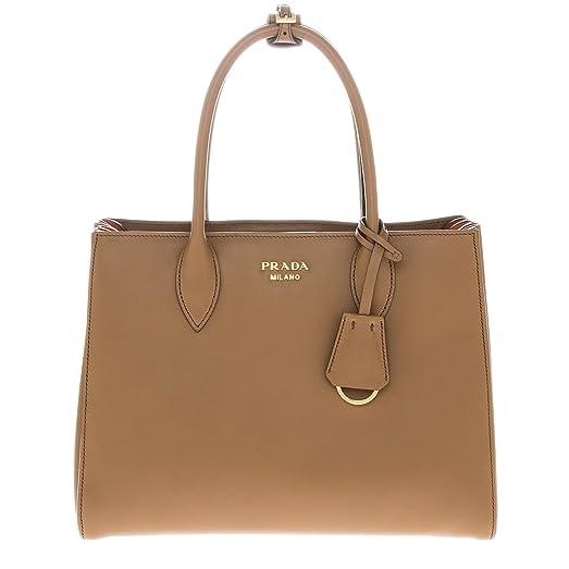 fe0485064f ... cheap prada bibliothque medium colorblock tote bag brown orange 4559b  584e7