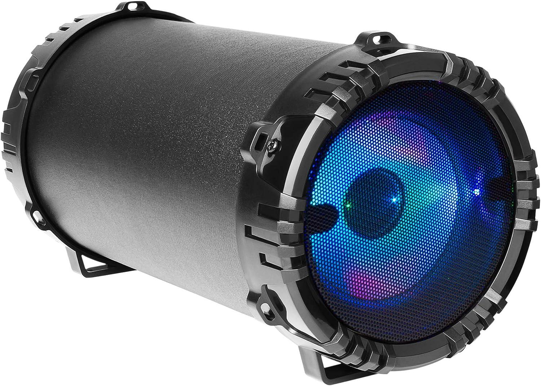 Mars Gaming MSB0, altavoz Bluetooth 10W, portátil, Micro SD, RGB Flow, Karaoke