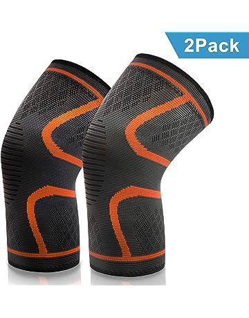 VIPFAN Kniebandage, Knieschoner Knieschützer 2 Pack für Laufen Walking Radfahren Fußball Basketball