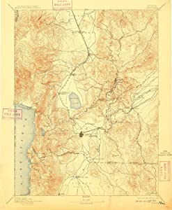 YellowMaps Carson NV topo map, 1:125000 Scale, 30 X 30 Minute, Historical, 1893, Updated 1909, 19.8 x 16.3 in