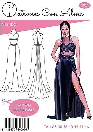 Patron Vestido Largo Fiesta Negro Tul (38)