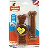 Nylabone Puppy Twin PK Ring & Flexi Combo Chicken Flavor, Wolf