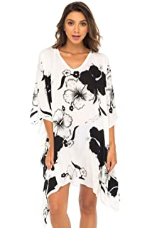 db3ba0a3f2 Back From Bali Womens Swimwear Cover Up, Floral Beach Dress for Bikini  Swimsuit with Sequins