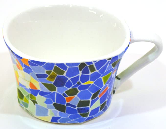 Amazon.com: ART ESCUDELLERS Porcelain SMALL TRAY BAMBU decorated in TRENCADIS Gaudí style. (Colour AURORA). 5.91 x 2.36: Home & Kitchen