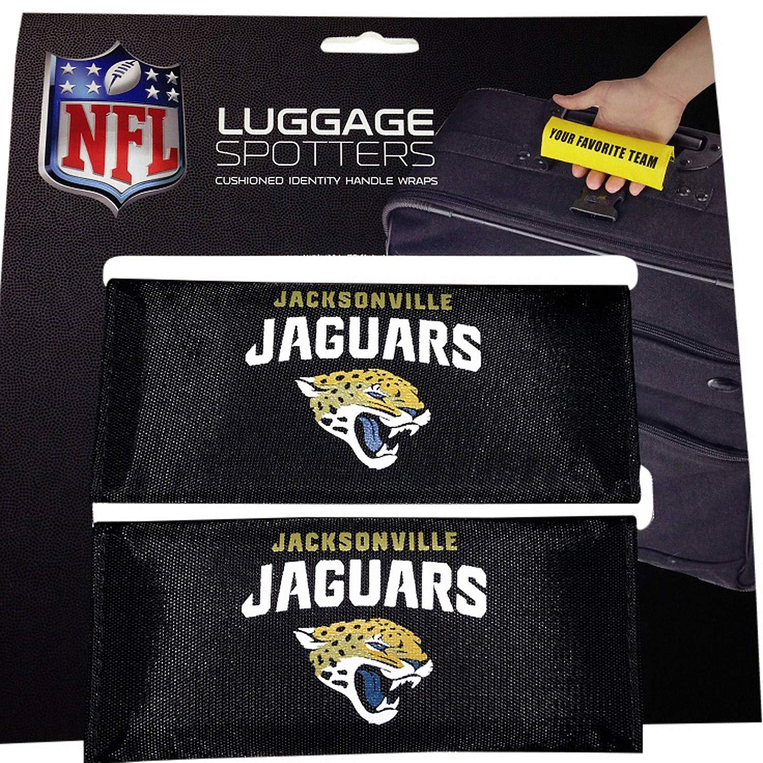 JAGUARS Luggage Spotter Suitcase Handle Wrap Bag Tag Locator with I.D. Pocket (2-PK) - CLOSEOUT! by Luggage Spotter