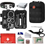 Military Tactical First aid Kit-EMT Pouch IFAK Bag Trauma Supplies Kit,Emergency Survival Kit for Camp,Hunt,Boat…