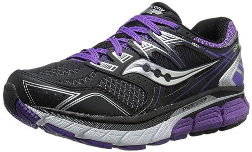 Saucony Women's Redeemer Iso Running Shoe, Black/Purple, ...
