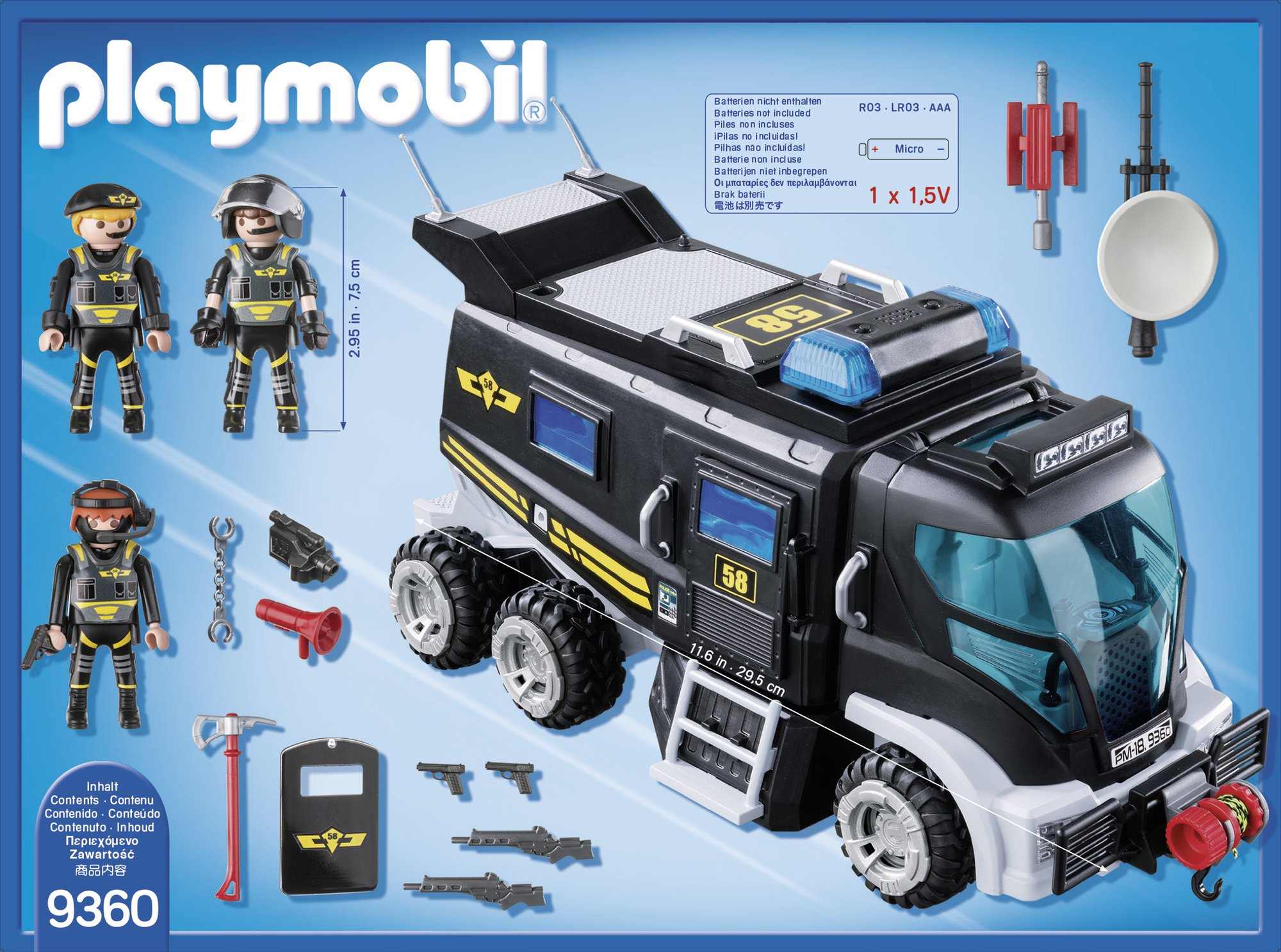 PLAYMOBIL 9360 SWAT Team truck with light and sound - NEW 2018 by PLAYMOBIL® (Image #2)