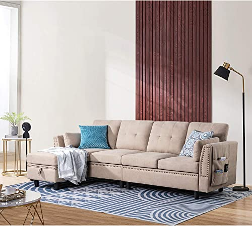 JAMFLY Convertible Sectional Sofa Couch