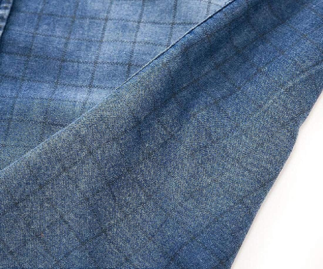 YKeen Mens Long Sleeve Turn-Down Collar Cotton Cowboy Button Up Western Shirt