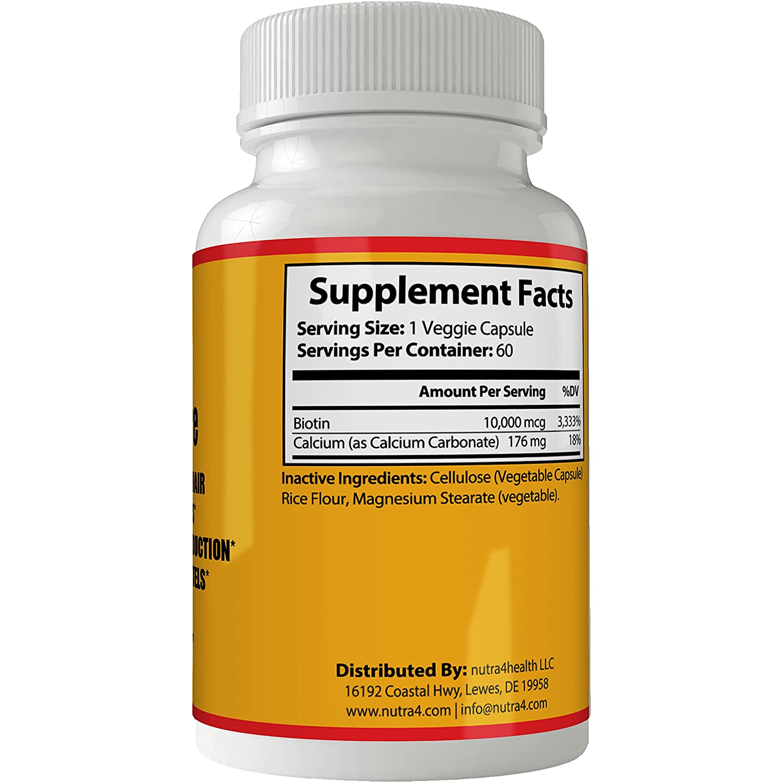 Amazon.com: Vitaminas Para El Cabello Unas Y Piel | Tratamiento Para El Cabello Maltratado | Biotina Para el Cabello Tratamiento Para la Caida del Cabello: ...