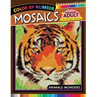 Mosaics Hexagon Coloring Book: Animals Color by Number