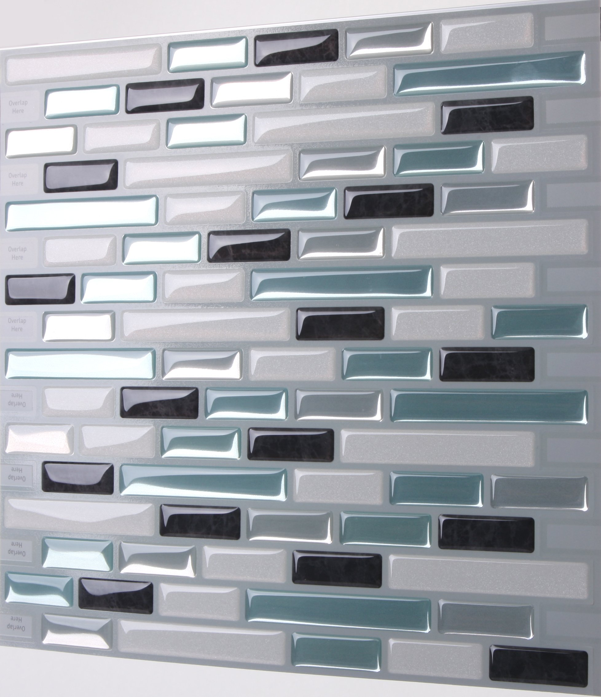 Tic tac tiles anti mold peel and stick wall tile in como for Peel and stick wallpaper squares