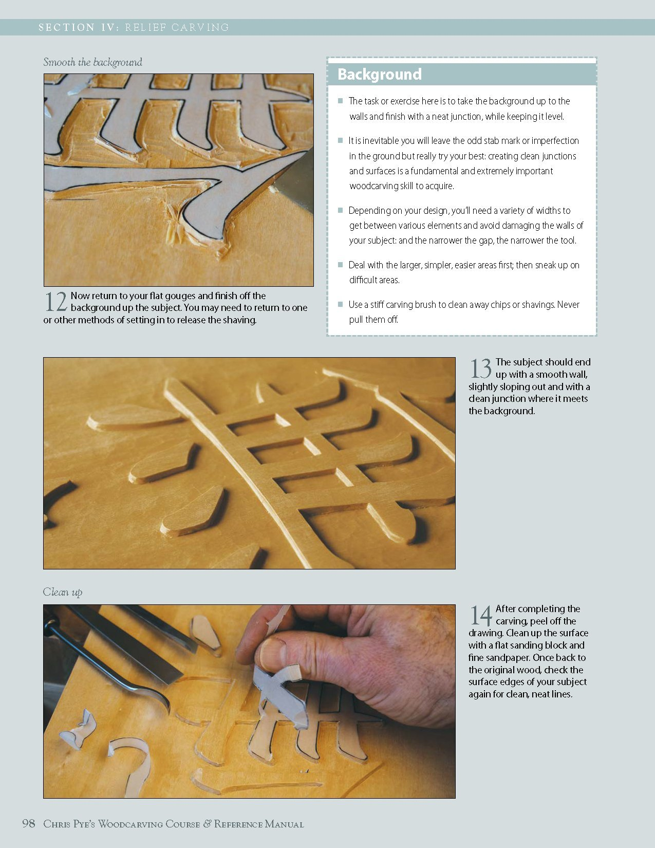 Chris pyes woodcarving course & reference manual: a beginners