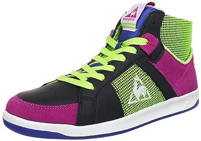 timeless design 7a254 077c3 Le Coq Sportif Womens TOULOUSE MID Hi-Top Sneakers Black Black Size  37