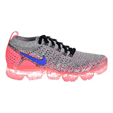 6cc3a76274b NIKE Women s Air Vapormax Flyknit 2 White Ultramarine Hot Punch Black Nylon  Running