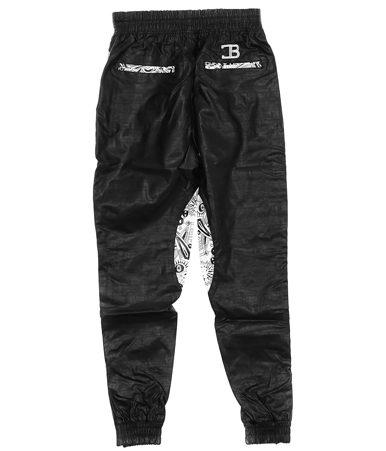 bcb45495810 Coke boys mens embossed faux leather lined jogger pants at amazon mens  clothing store jpg 1285x1500
