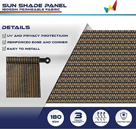 Amazon Com Windscreen4less 10 X 16 Universal Replacement Shade Cover Canopy For Pergola Patio Porch Privacy Shade Screen Panel With Grommets On 2 Sides Includes Weighted Rods Breathable Uv Block Brown