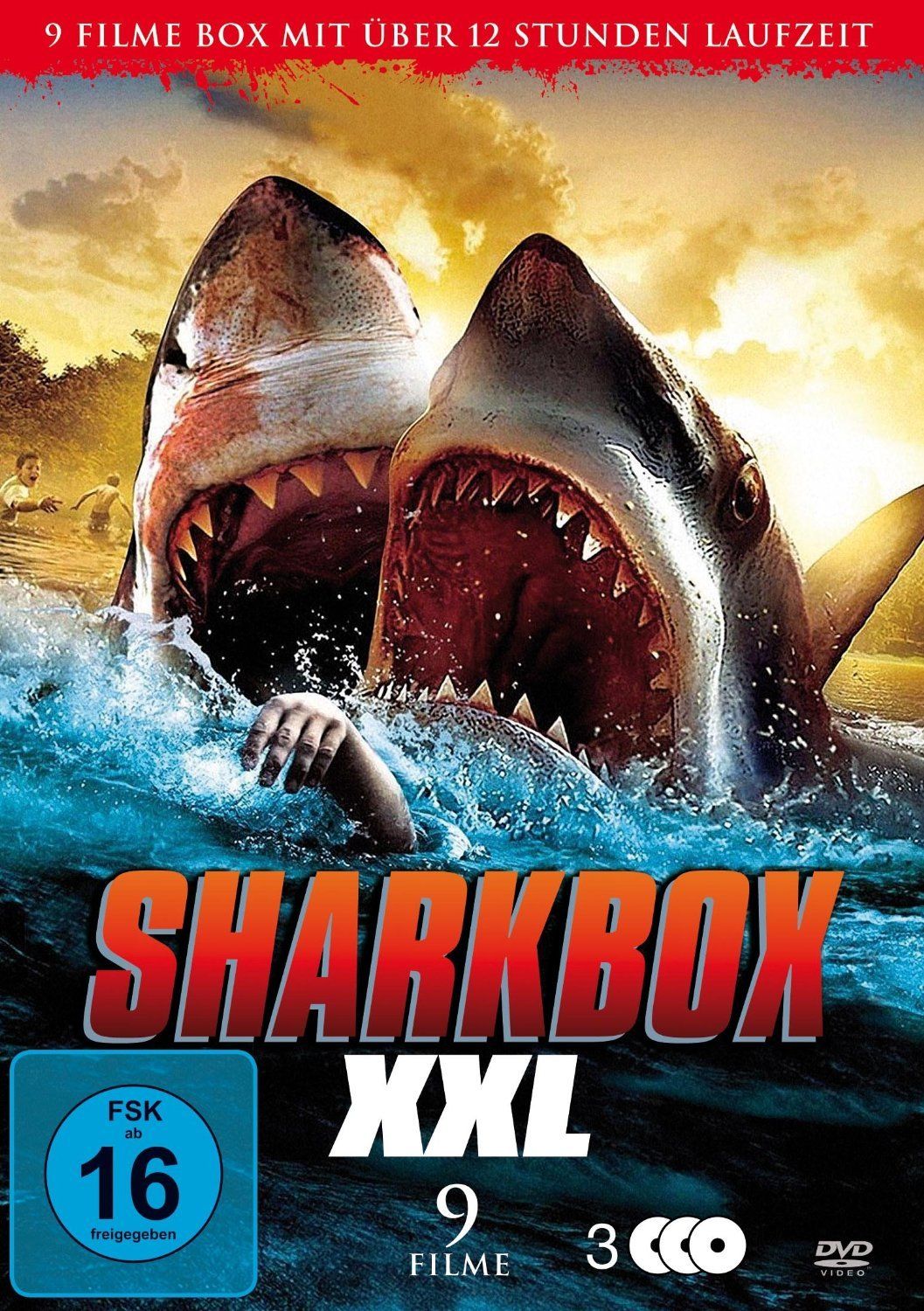 SHARKBOX XXL 9 Filme - 3 DVDs - incl Sharknado Alemania: Amazon.es ...