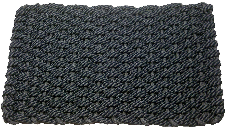 Rockport Rope Doormats 2038302 Indoor and Outdoor Doormats, 20 by 38-Inch, Navy Blue with Navy Blue Insert