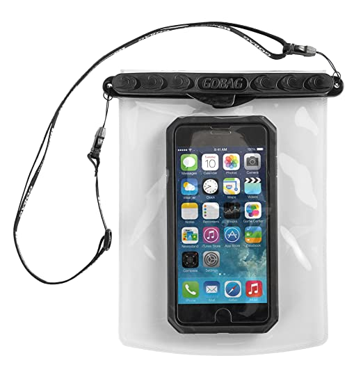 finest selection a3ef6 ce15c Go Bag Mako Dry Bag #1 Secure Air Tight Self-Sealing Magnetic Waterproof  Case to 100 ft. Hermetic Seal Cell Phone Touchscreen Sensitive 7.5