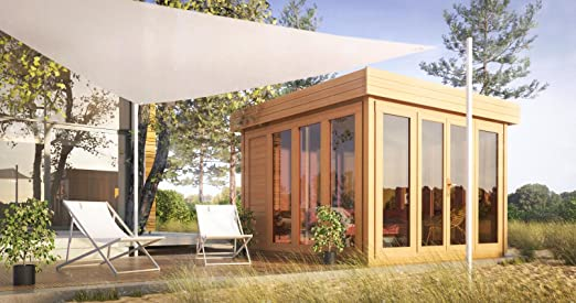 Tejado plano para caseta de jardín isla solar - 3,50 x 3,70 m (con listones de 28 mm): Amazon.es: Bricolaje y herramientas