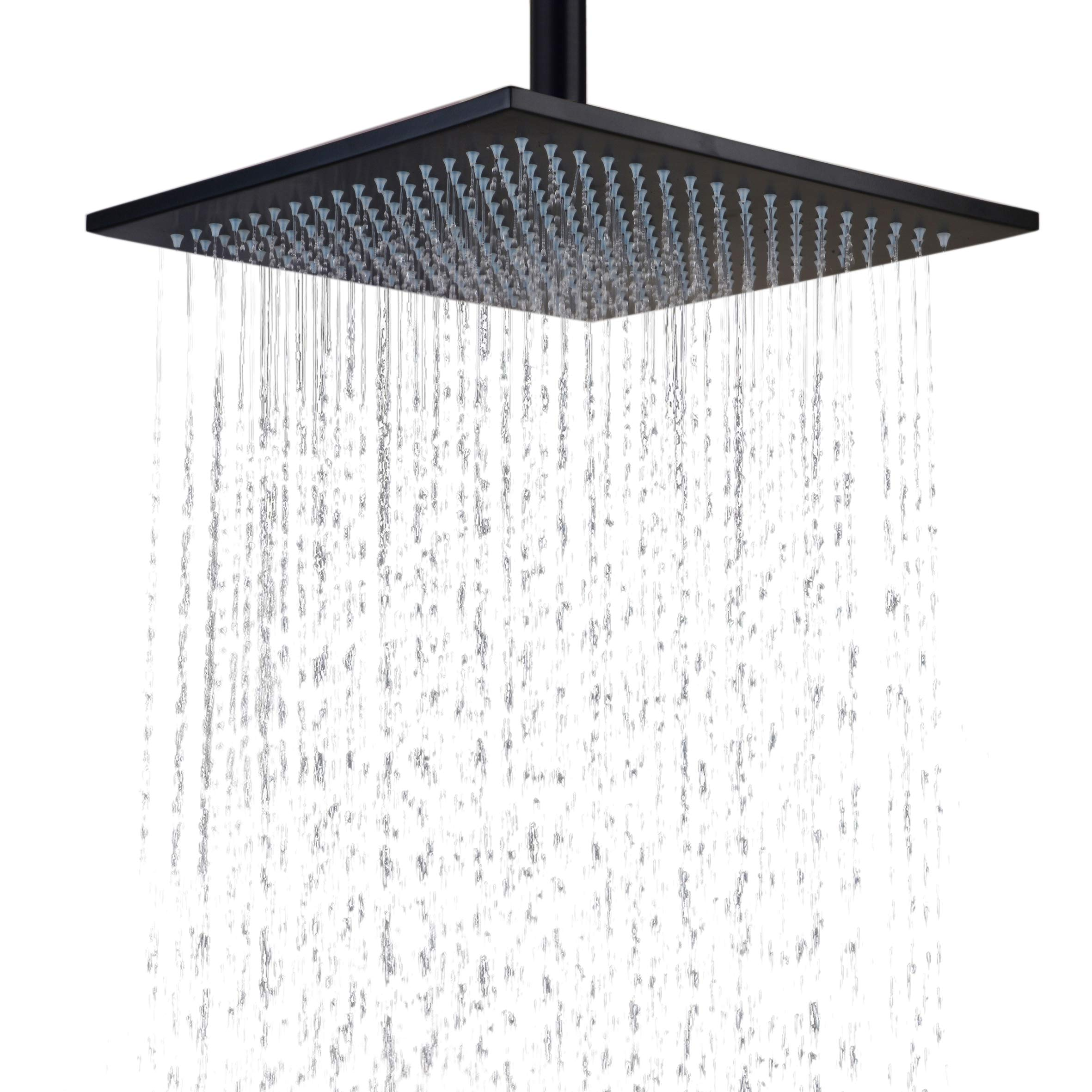 Hiendure Stainless Steel Bathroom Square Rainfall Shower Head 12 Inch,oil Rubbed Bronze