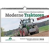 Moderne Traktoren 2018 DIN A3 Kalender + Video-DVD