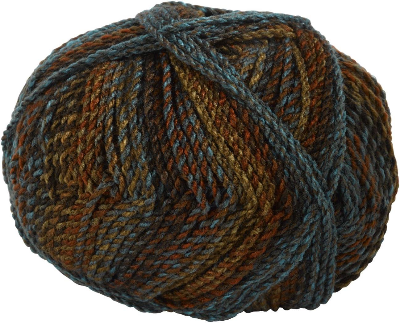 Brown /& Blue Mix MC6 James Brett Marble Chunky Knitting Yarn 100/% Soft Acrylic Wool 200g Ball