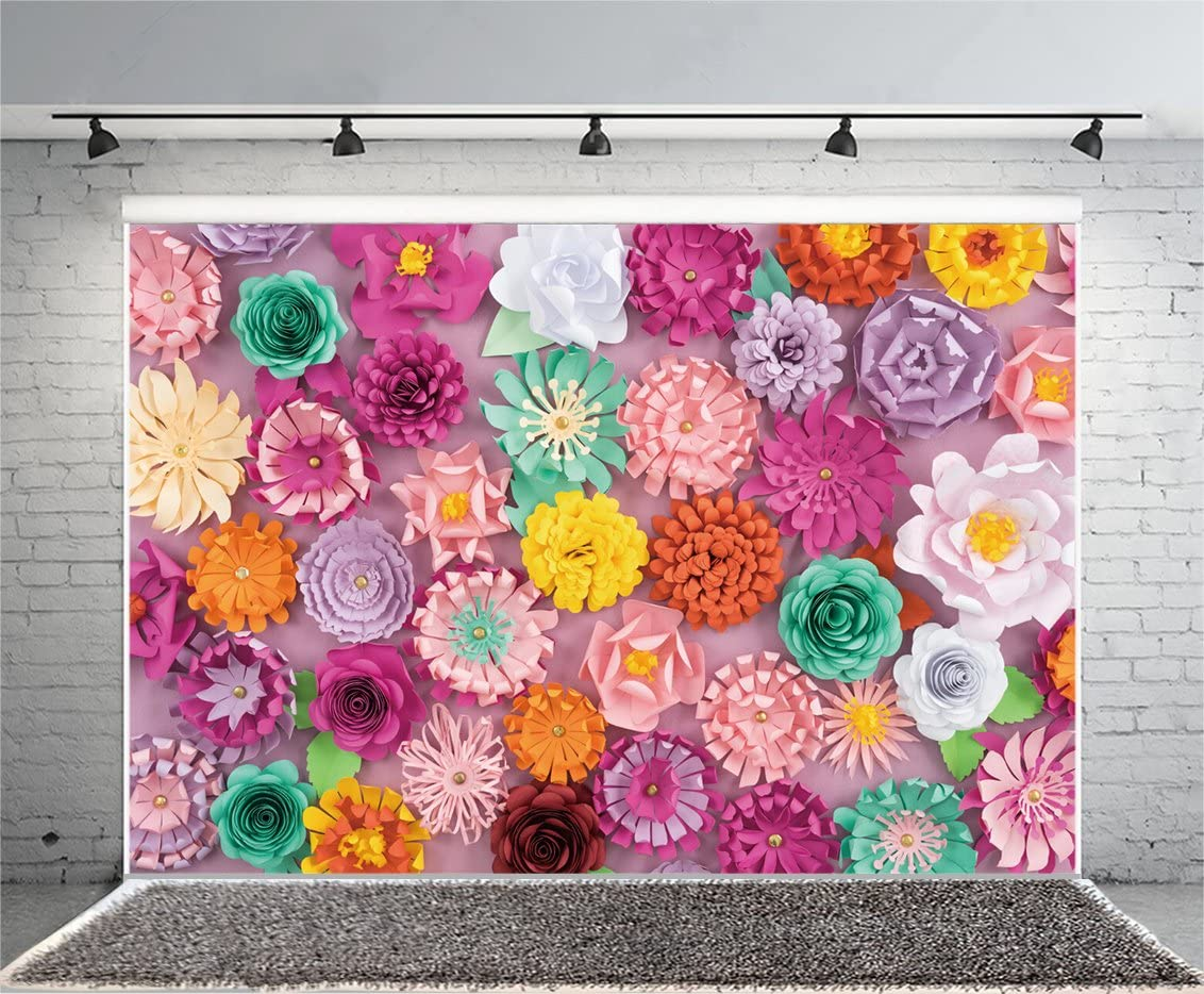 Amazon Com Laeacco Handmade Paper Flowers Background 7x5ft