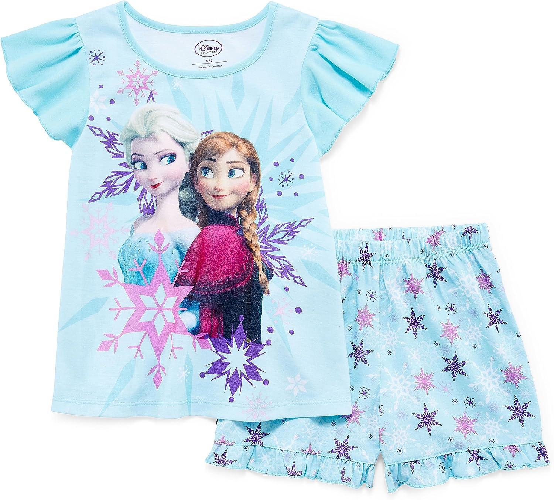 Girl Baby Todler Frozen Elsa Shortie Pj Pyjama Set Nightwear