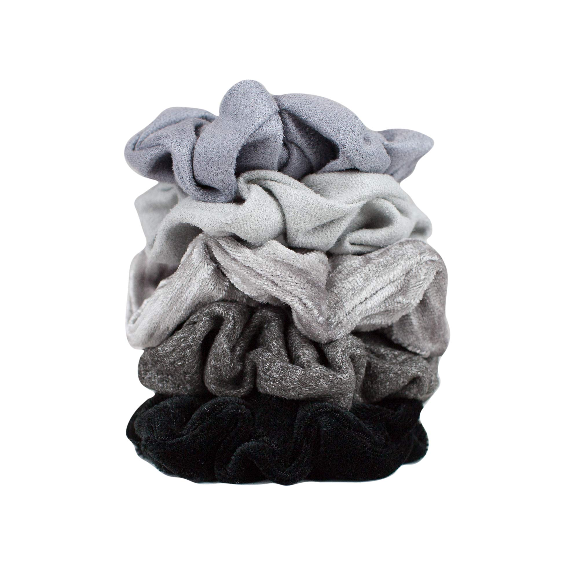 18077b6c1ab Amazon.com   Velvet Hair Scrunchies for Women- 5 pack Velvet Scrunchie for  Ponytails