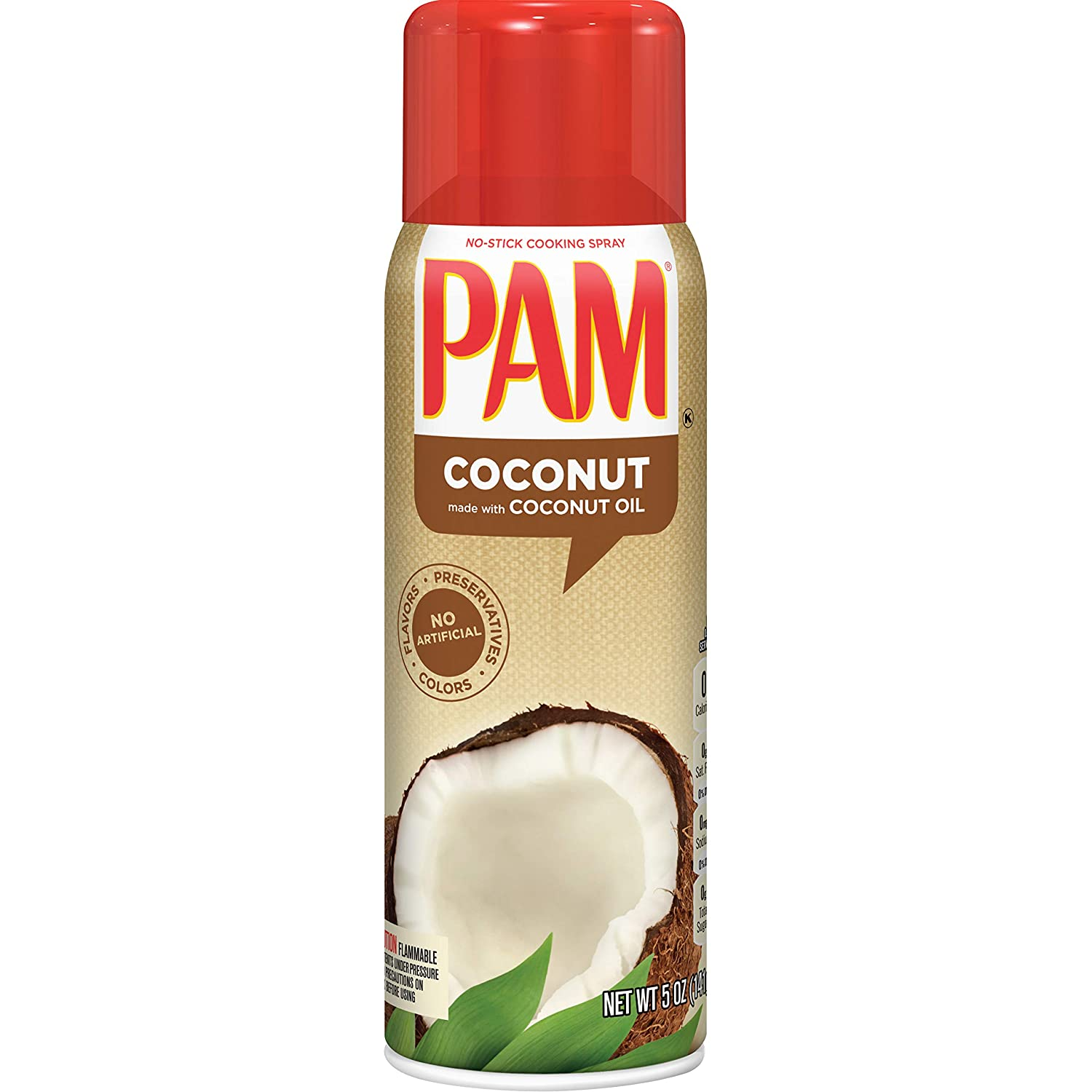 Amazon.com : PAM Coconut Oil Cooking Spray, 5 oz. : Grocery & Gourmet Food