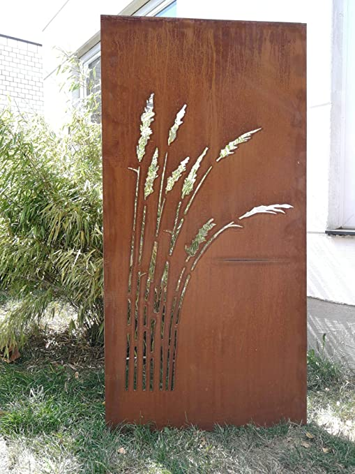 Zen Man Jardín para Valla de Metal Oxidado Jardín Valla Jardín Decoración edelrost para Ventana Pared 150 * 75 cm 101550: Amazon.es: Jardín