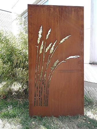 Amazonde Zen Man Garten Sichtschutz Aus Metall Rost Gartenzaun