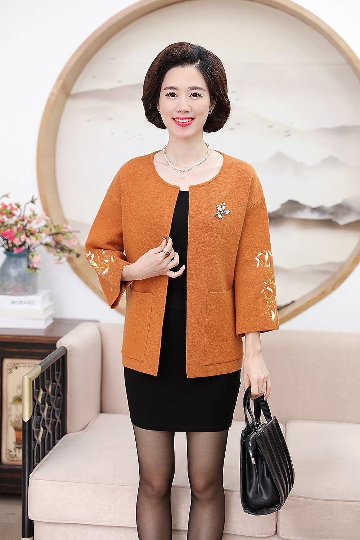e7e0796c25 Amazon.com   Middle-aged women mother dress Hitz 50-60 years old short coat  jacket middle-aged women autumn for women girl   Beauty