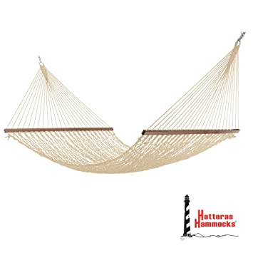 hatteras dc 14ot large duracord rope hammock   oatmeal amazon     hatteras dc 14ot large duracord rope hammock      rh   amazon