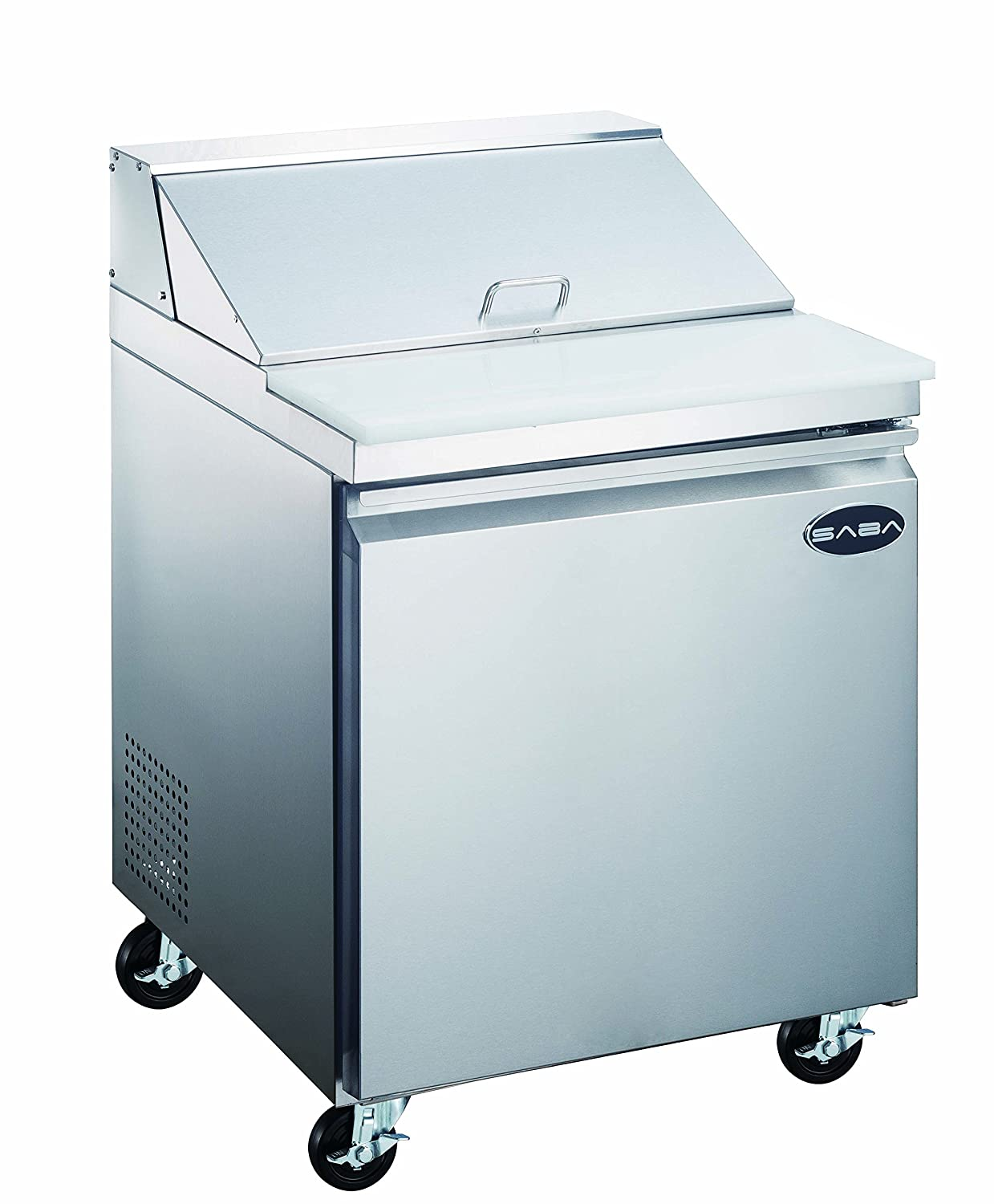 "SABA 27"" Commercial Sandwich Salad Prep Table Refrigerator Cooler"
