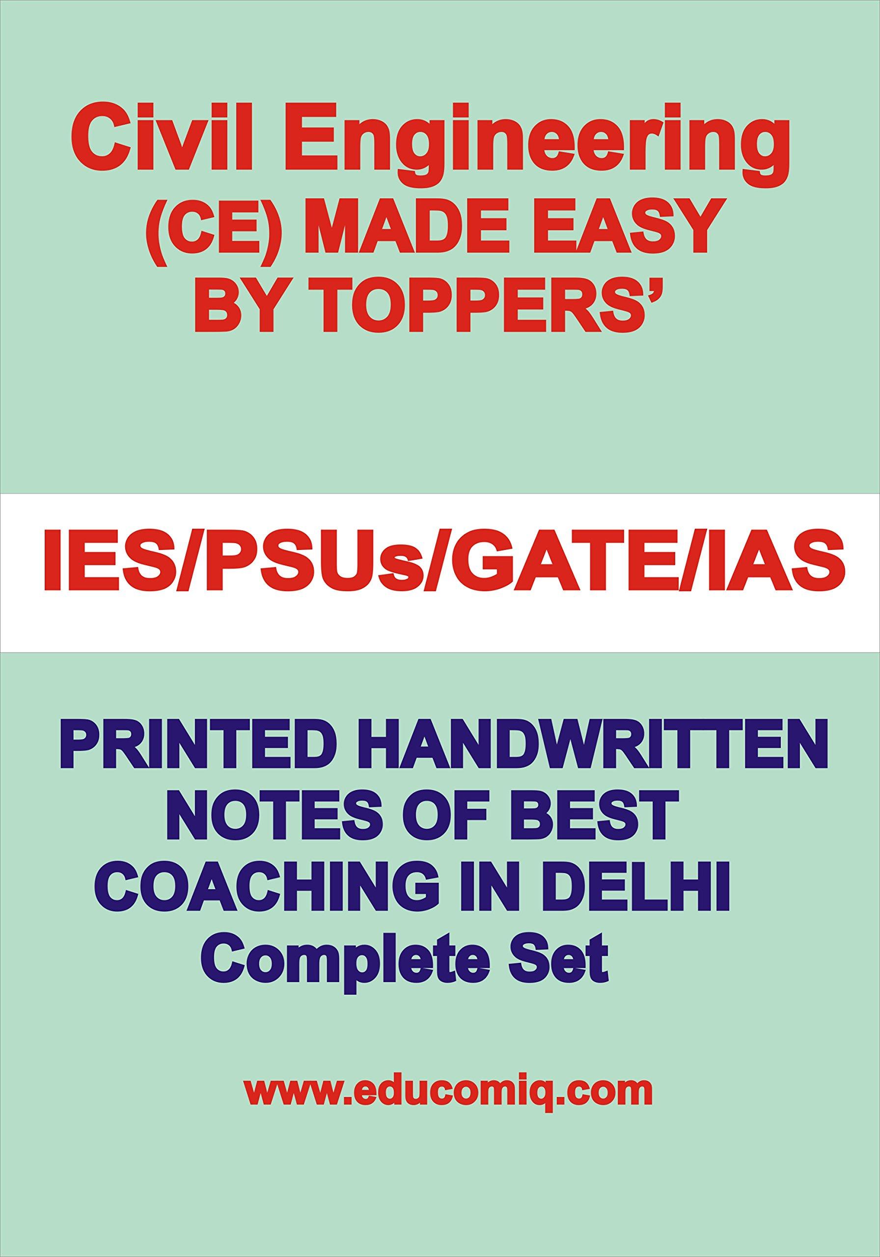 Buy Civil Engineering Handwritten Notes [IES] [GATE] [PSU] by Made