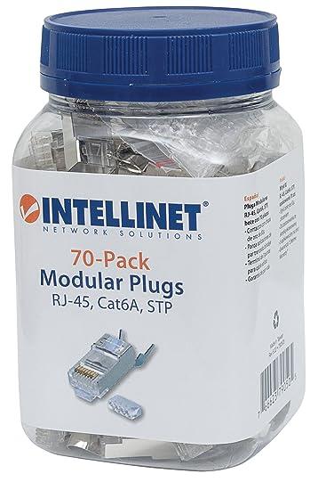 Intellinet 70er-Pack Cat6A RJ45-Modularstecker Pro Line: Amazon.de ...