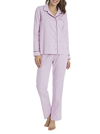 f20beb57a4 Rayville Women s Striped Pyjama Set Small - - Small  Amazon.co.uk  Clothing