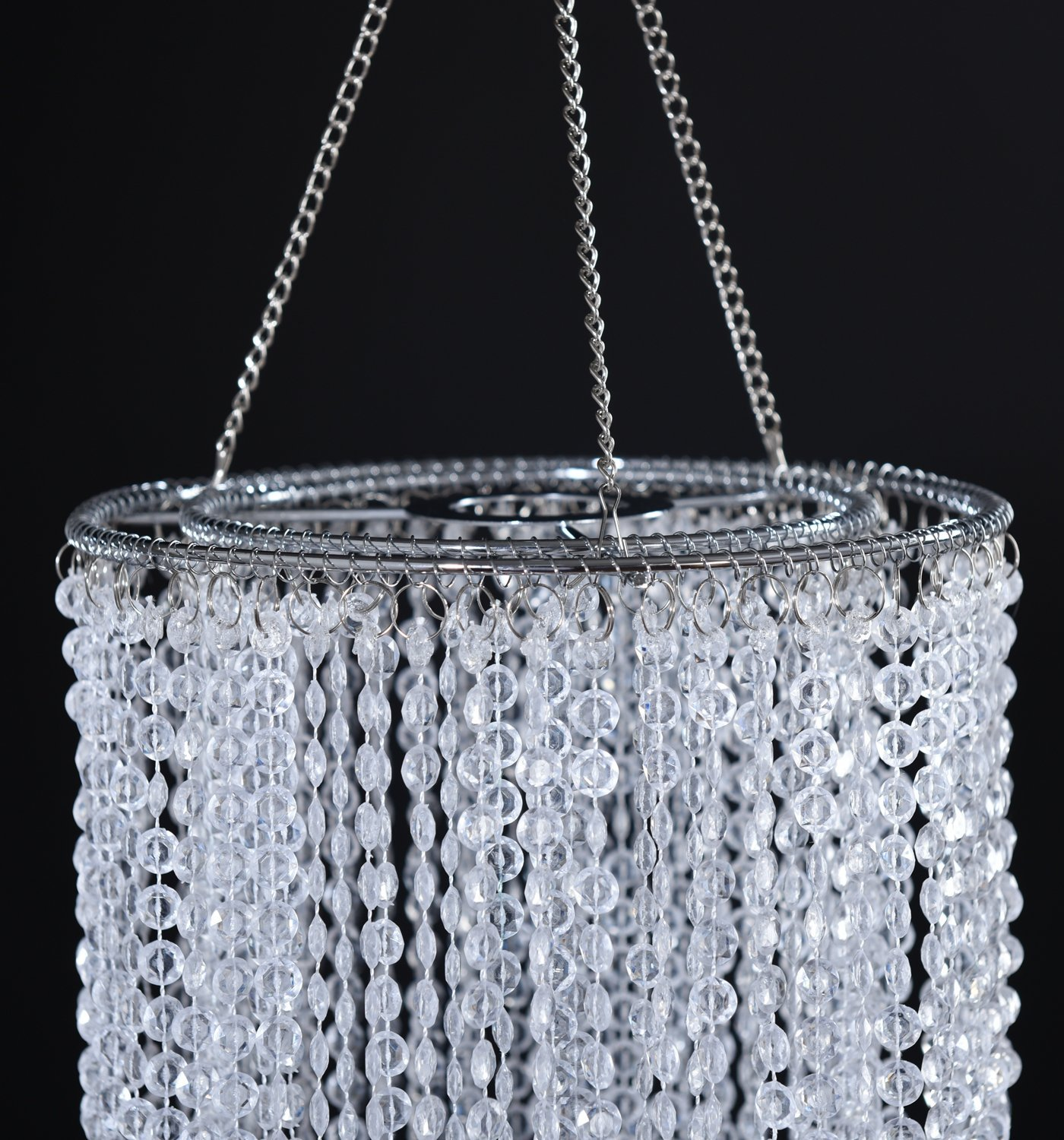 FLAVORTHING 2 Tiers Clear Chandelier great idea for Wedding